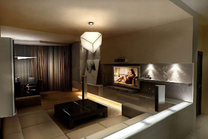 Интерьера однокомнатной квартиры 30 м2