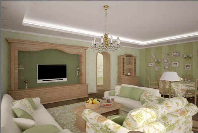 Дизайн простого зала фото