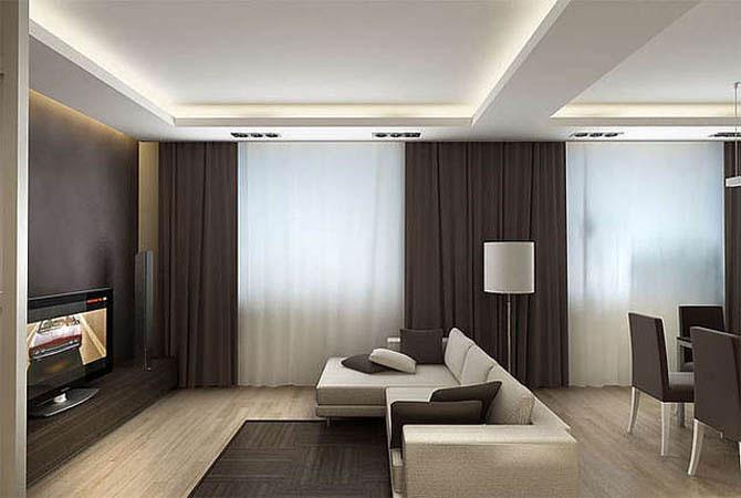 Проекты дизайна гостинных